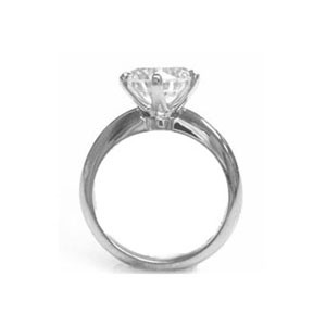 AFS-0003-6 Prong Large Solitaire Engagement Ring