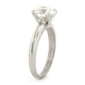 AFS-0003-4 Prong Solitaire Engagement Ring