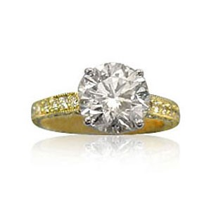 AFS-0063 Diamond Engagement Ring