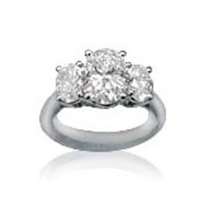 AFS-0084 Three Stone Diamond Engagement Ring
