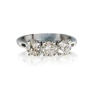 AFS-0085 Three Stone Diamond Engagement Ring