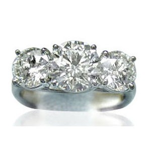 AFS-0103 Three Stone Diamond Engagement Ring