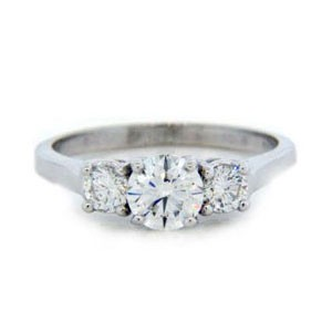 AFS-0112 Three Stone Diamond Engagement Ring
