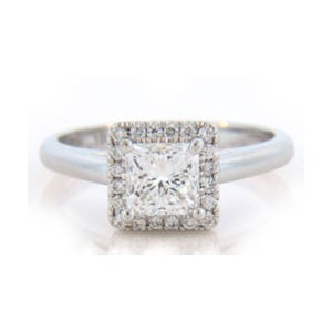 AFS-0118 Vintage Diamond Engagement Ring with Halo