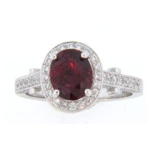 AFS-0132 Vintage Diamond Engagement Ring with Halo