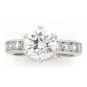 AFS-0133 Diamond Engagement Ring