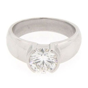 AFS-0136 Solitaire Engagement Ring