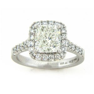AFS-0148 Vintage Diamond Engagement Ring with Halo
