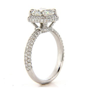 AFS-0152 Vintage Diamond Engagement Ring with Halo