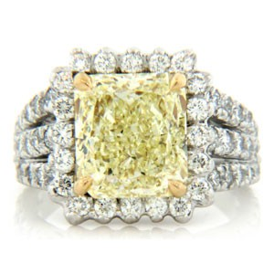 AFS-0157 Vintage Diamond Engagement Ring with Halo