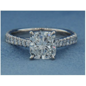 AFS-0166 Vintage Diamond Engagement Ring