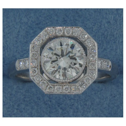 AFS-0170 Vintage Diamond Engagement Ring