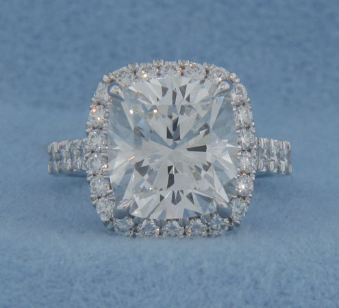 AFS-0171 Vintage Diamond Engagement Ring with Halo