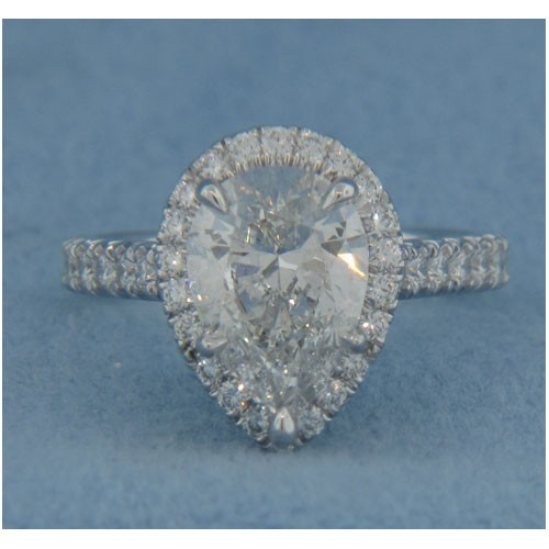 AFS-0173 Vintage Diamond Engagement Ring with Halo