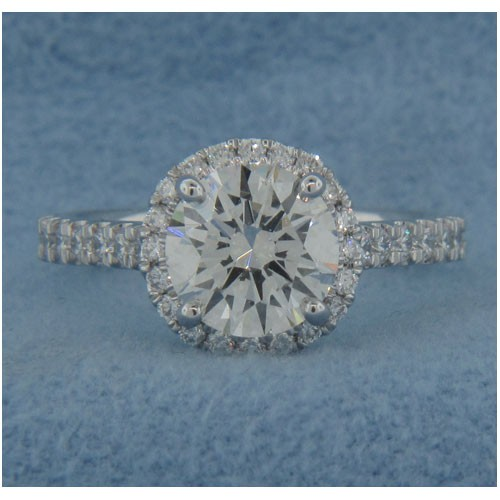 AFS-0174 Vintage Diamond Engagement Ring with Halo