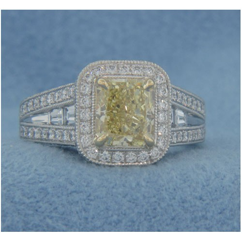 AFS-0176 Vintage Diamond Engagement Ring with Halo