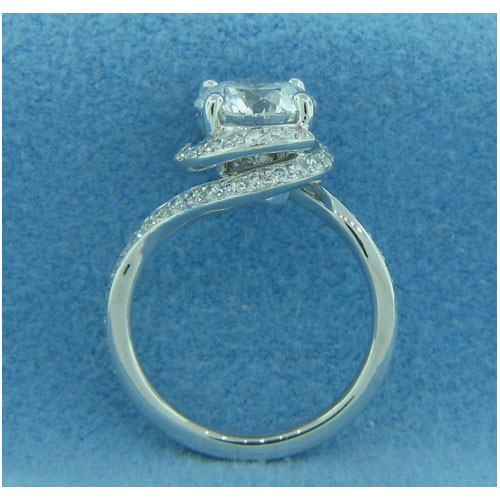 AFS-0187 Diamond Engagement Swirl Ring