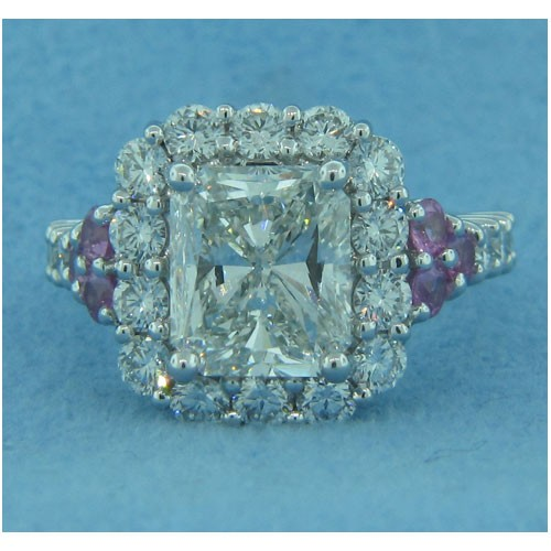 AFS-0188 Vintage Diamond Engagement Ring with Halo