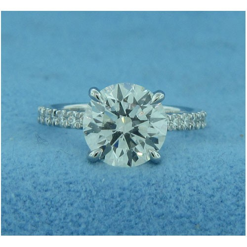 AFS-0190  Diamond Engagement Ring with Sidestones
