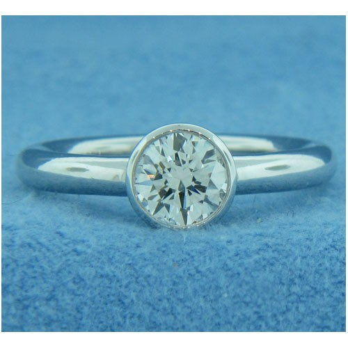 AFS-0193-Bezel-Set Solitaire Engagement Ring