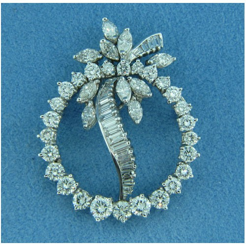 B1663 Diamond Brooch