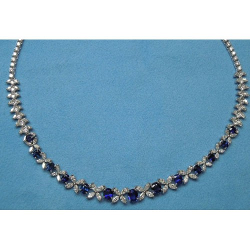 CH545 Diamond and Sapphire Necklace