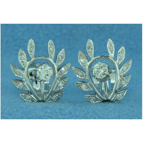 E0935 Diamond Cluster Earrings
