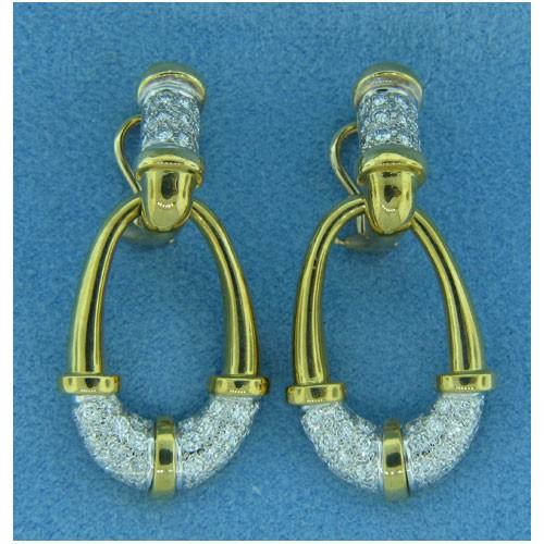 E1080 Diamond Drop Earrings