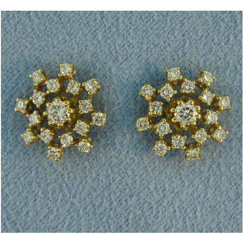 E1094 Diamond Button Earrings
