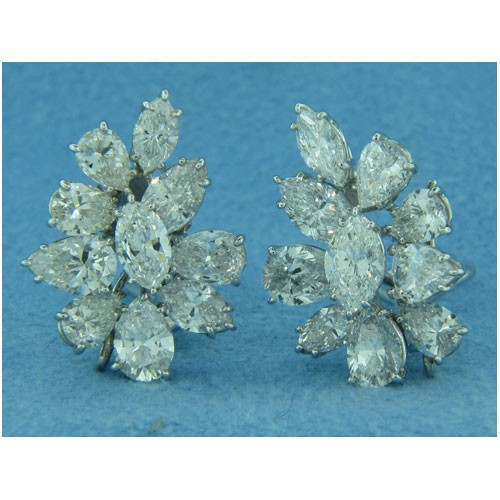 E1099 Diamond Cluster Earrings