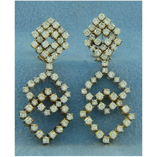 E1145 Diamond Drop Earrings