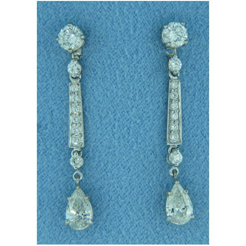 E1187 Diamond Drop Earrings