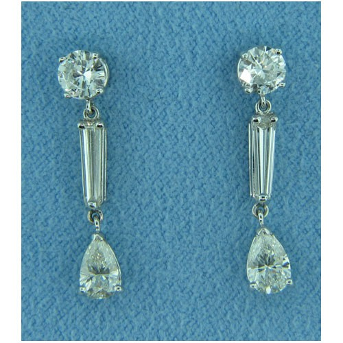 E1231 Diamond Drop Earrings