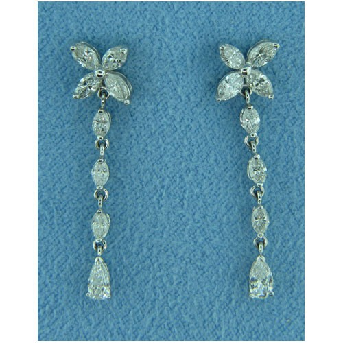 E1233 Diamond Drop Earrings
