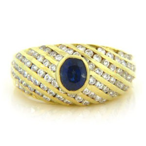 FS3528 Diamond and Sapphire Ring
