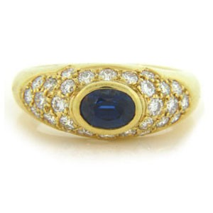 FS3537 Diamond and Sapphire Ring