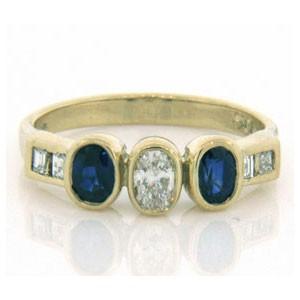 FS3543 Diamond and Sapphire Ring