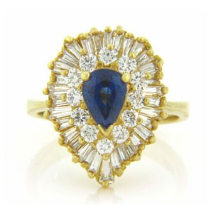 FS3611 Diamond and Sapphire Ring
