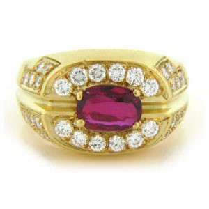 FS3724 Diamond and Ruby Ring