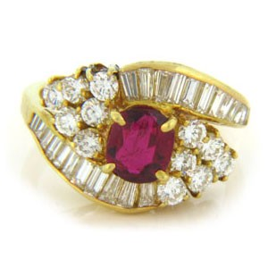 FS3730 Diamond and Ruby Ring