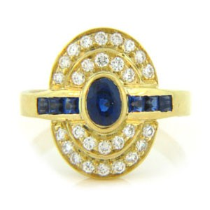 FS3793 Diamond and Sapphire Ring