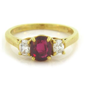 FS3856 Diamond and Ruby Ring