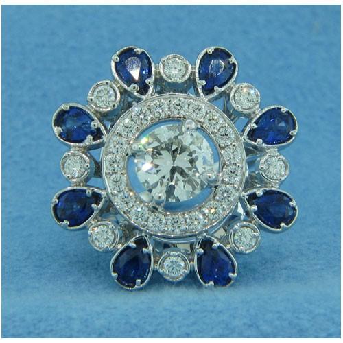 FS3985 Diamond and Sapphire Ring