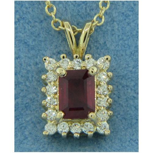 P1368 Diamond and Ruby Pendant