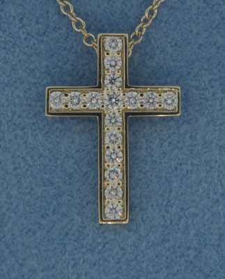 P1432 Diamond Cross Pendant