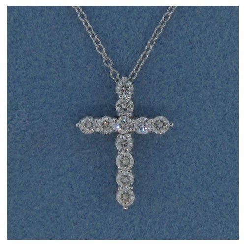 P1434 Diamond Cross Pendant