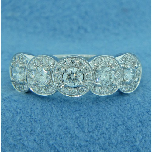 WB2772 Diamond Wedding Ring with Halos
