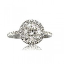 AFS-0070 Vintage Diamond Engagement Ring with Halo