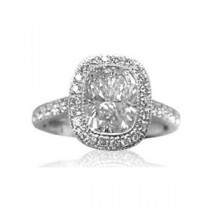 AFS-0071 Vintage Diamond Engagement Ring with Halo