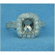 AFS-0113 Vintage Diamond Engagement Ring with Halo